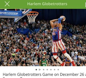 HARLEM GLOBETROTTER 5 vip tickets 325.00 for Sale in Pittsburgh, PA