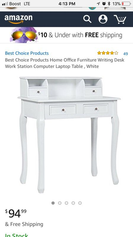 Best Choice Products Home Office Furniture Writing Desk Work Station