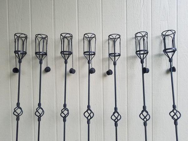 7 Vintage Tiki Torches