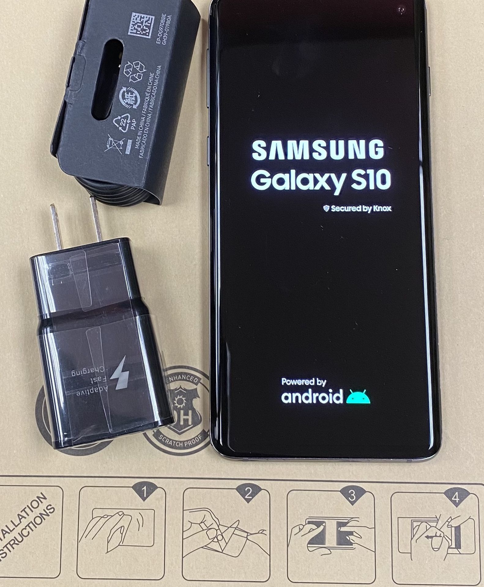 Samsung galaxy s10 128 gb unlocked, sold with store warranty