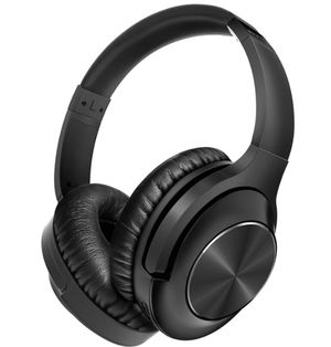 Photo Brand New in Box Pro Active Noise Cancelling Headphones 1 Bluetooth Headphones Over Ear with Mic Deep Bass Hi-Fi Sound, Comfortable Protein Earpads,