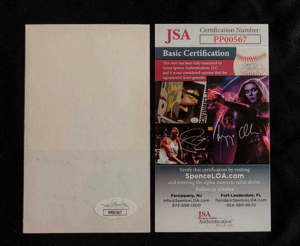 Duane Thomas Dallas Cowboys Signed 3x5 Index Card JSA Certified Authentic Autograph