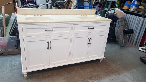 New bathroom vanity cabinet, 5 feet long, 35 in tall, 22 ...