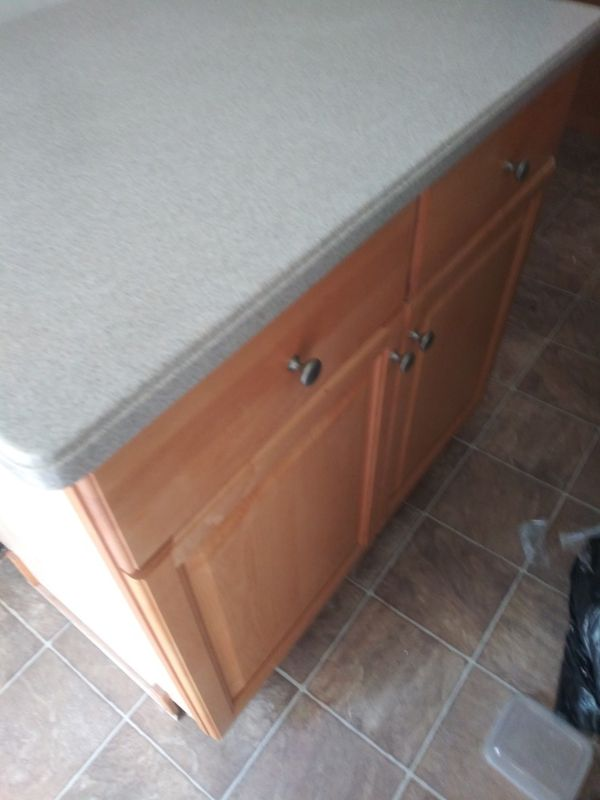 10 Pine custom kitchen cabinets with Island for Sale in ...