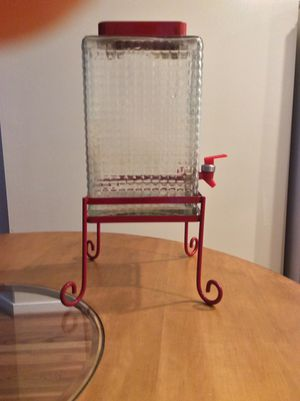 Glass beverage dispenser with stand for Sale in Glen Allen, VA