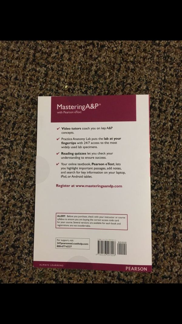 Mastering A&P access code for Sale in San Marcos, CA - OfferUp