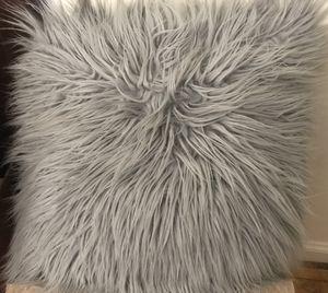 Shaggy Faux Fur Throw Pillow for Sale in Arlington, VA