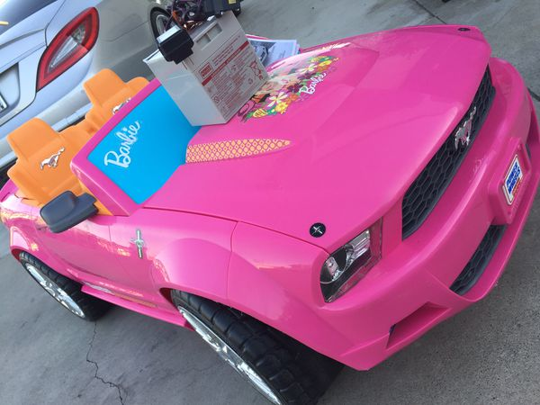 Barbie Mustang Car 12volt Electric Kids Ride On Cars Wheels