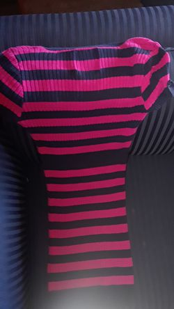 Pink and Navy Blue Polo Dress size small Thumbnail