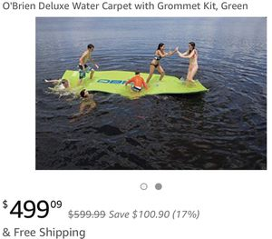 O'Brien Water Carpet with Grommet Kit, Green for Sale in Sandy Springs, GA