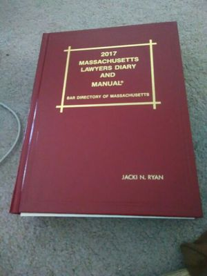 2017 Massachusetts lawyers Diary and manual - Bar Directory of Massachusetts for Sale in Boston, MA