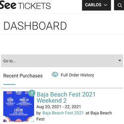 Baja Beach Tickets  Thumbnail