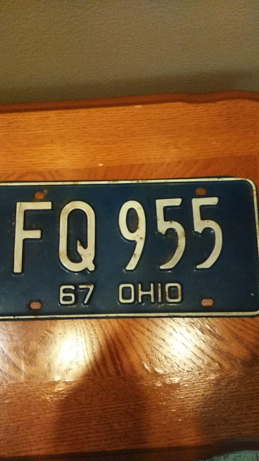 Vintage Ohio plate