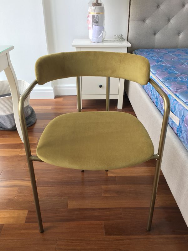 Surprising West Elm Lenox Dining Chair Velvet Wasabi Light Broze For Caraccident5 Cool Chair Designs And Ideas Caraccident5Info