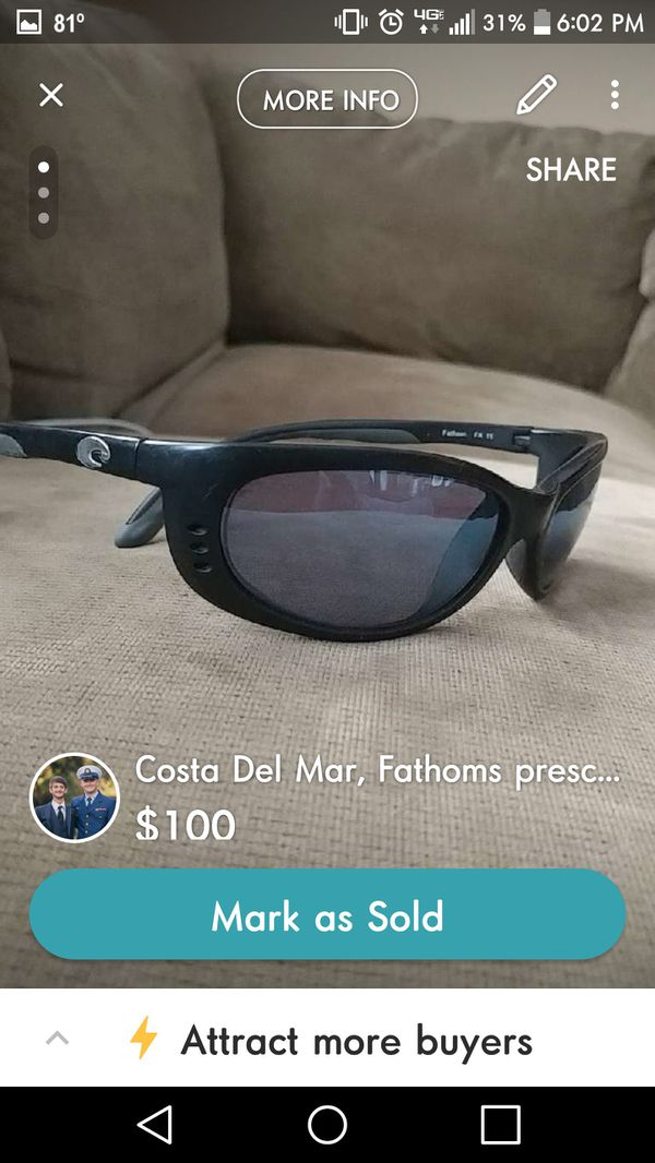 Perscription Costa del mar (phanthoms) (Boats   Marine) in North Charleston,  SC - OfferUp f859b7370e