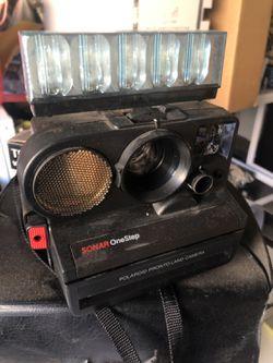 Vintage Camera Sonar Onestep Polaroid SX 70 Sonar OneStep Instant Film Camera With Flashbar Thumbnail