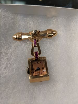 ANTIQUE WATCH PIN WITH DIAMOND AND RUBIE'S for Sale in Leesburg, VA
