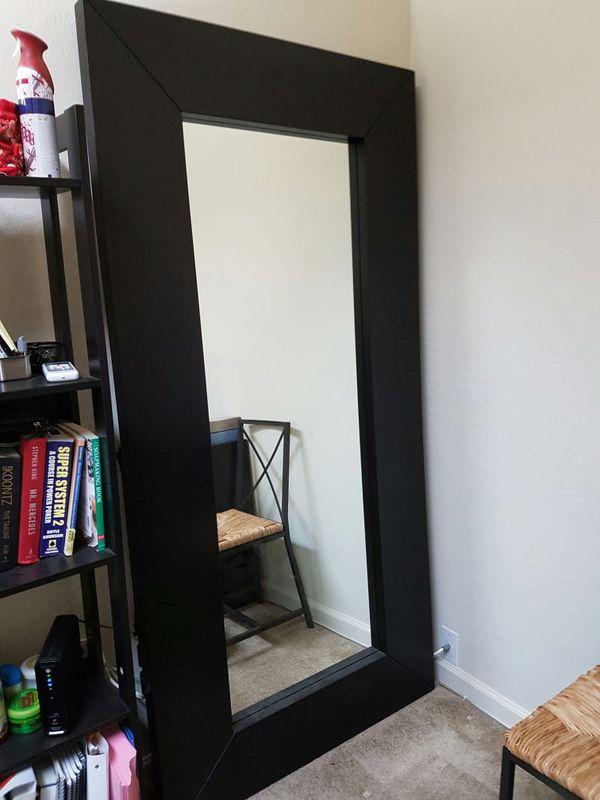 70 Ikea Mongstad Mirror Black Brown Wood 37x74 3 4 For In San Jose Ca Offerup