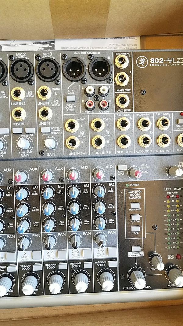 Mackie 8 Channel Mixer O 802 VLZ3