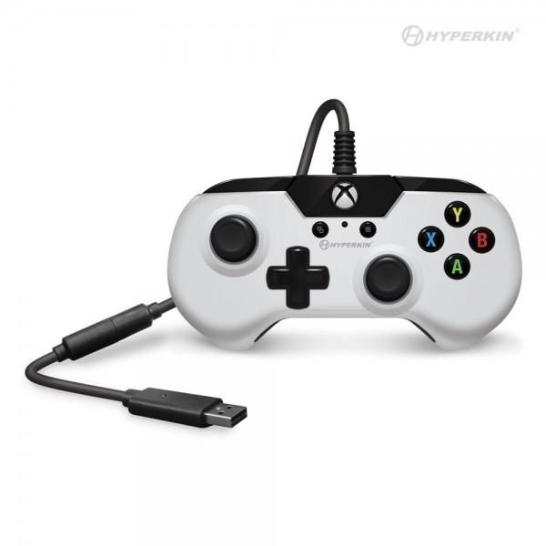 X91 Wired Controller for Xbox One/ Windows 10 (White) - Hyperkin