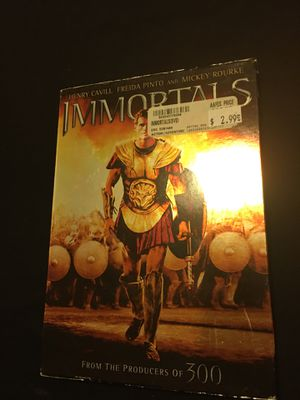 "Movie ""The immortals "" DVD for Sale in San Diego, CA"