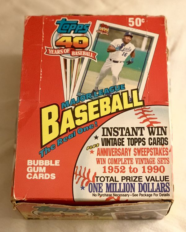 1991 Topps Baseball Cards Box For Sale In Placentia Ca Offerup