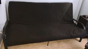 Metal Arm Futon with Full Size Mattress for Sale in Sterling, VA