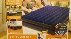 INTEX 2 Queen Air Mattress Beds w/ hand pump for Sale in Alexandria, VA