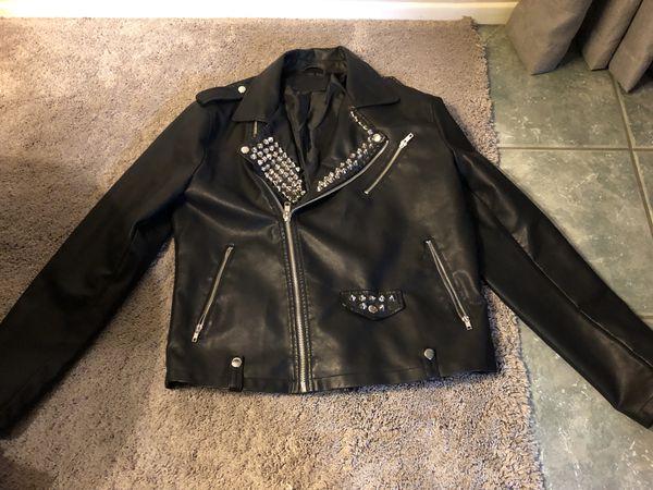 fcf632b5a42 Punk rock vegan leather jacket (men s large) for Sale in Covina
