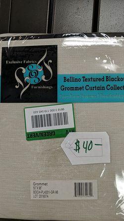 Exclusive fabrics textured blackout garment curtains Thumbnail
