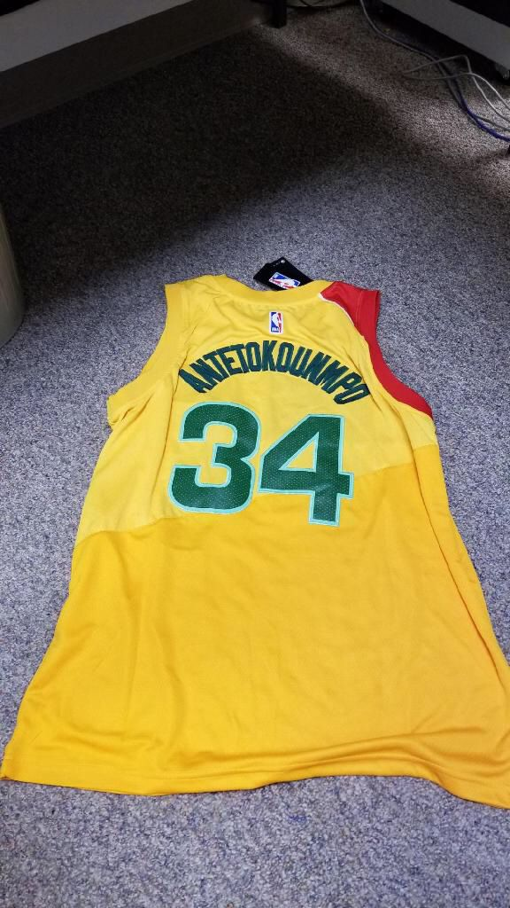 cheap for discount 979b9 ef333 Brand new NBA Nike Giannis Antetokounmpo Jersey Xl Milwaukee Bucks City  edition yellow for Sale in Zephyrhills, FL - OfferUp