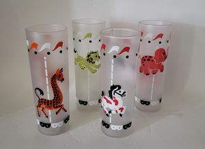 Circus Libby frosted glass tumblers for Sale in Orlando, FL