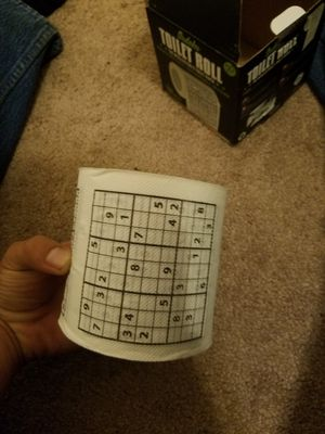Sudoku Puzzle Game Roll Novelty Toilet Paper. FULL ROLL. for Sale in Victorville, CA