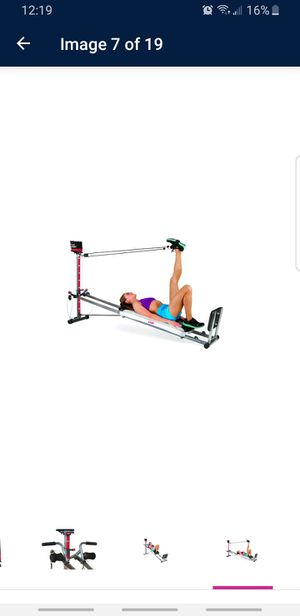 Photo Total Gym 1400 Total Home Gym with Workout DVD - Full Body Workout Machine with 60+ Exercises