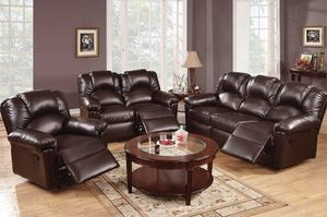 LIVING ROOM SET ESPRESSO for Sale in Hialeah, FL