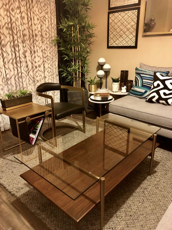West Elm Mid Century Art Display Coffee Table