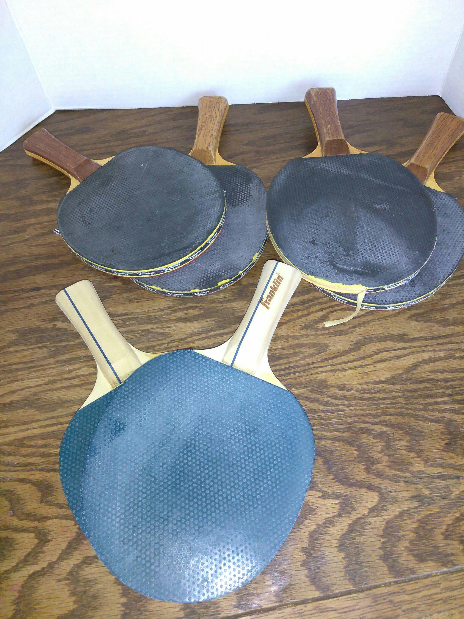 Ping-pong paddles USED!!! 3 sets