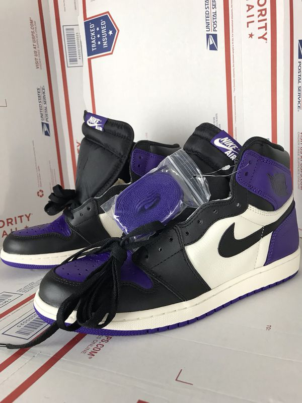 7083fd3015d New Nike Men's Jordan 1 Retro High Court Purple 555088-501 Size 10.5 ...