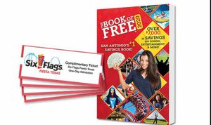 Photo READ DESCRIPTION 4 GENERAL ADMISSION TICKETS TO SIX FLAG FIESTA TEXAS plus FREE 2020 SAVING BOOK OUTDOOR WATER PARK ANY DAY THRU 6/2020