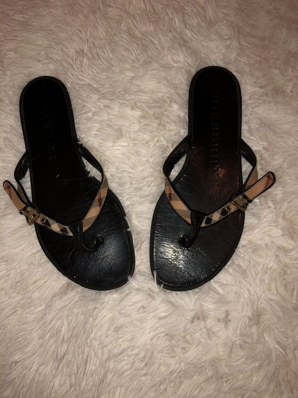2bc5106d68d Burberry thong sandals I wear 8 1 2 but fits best size 8 for Sale in ...