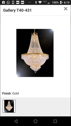 Egyptian crystal chandelier for Sale in White Plains, MD