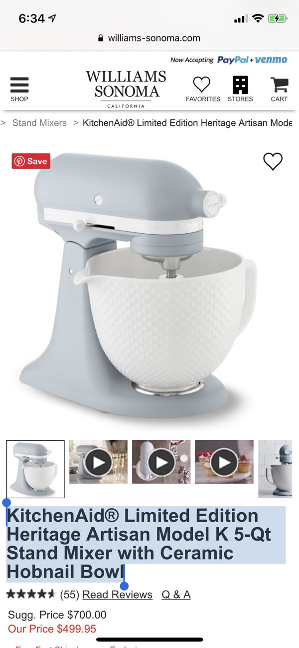 Kitchenaid Limited Edition Heritage Artisan Model K 5 Qt Stand Mixer