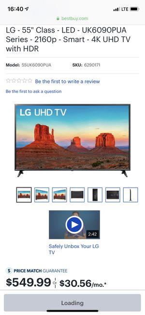 LG used for 8 months only, like new 55 inches for Sale in Boston, MA