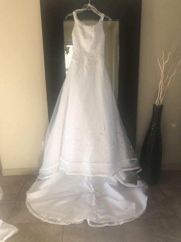 Beautiful Davids Bridal Michaelangelo Size 4 Wedding Dress For Sale