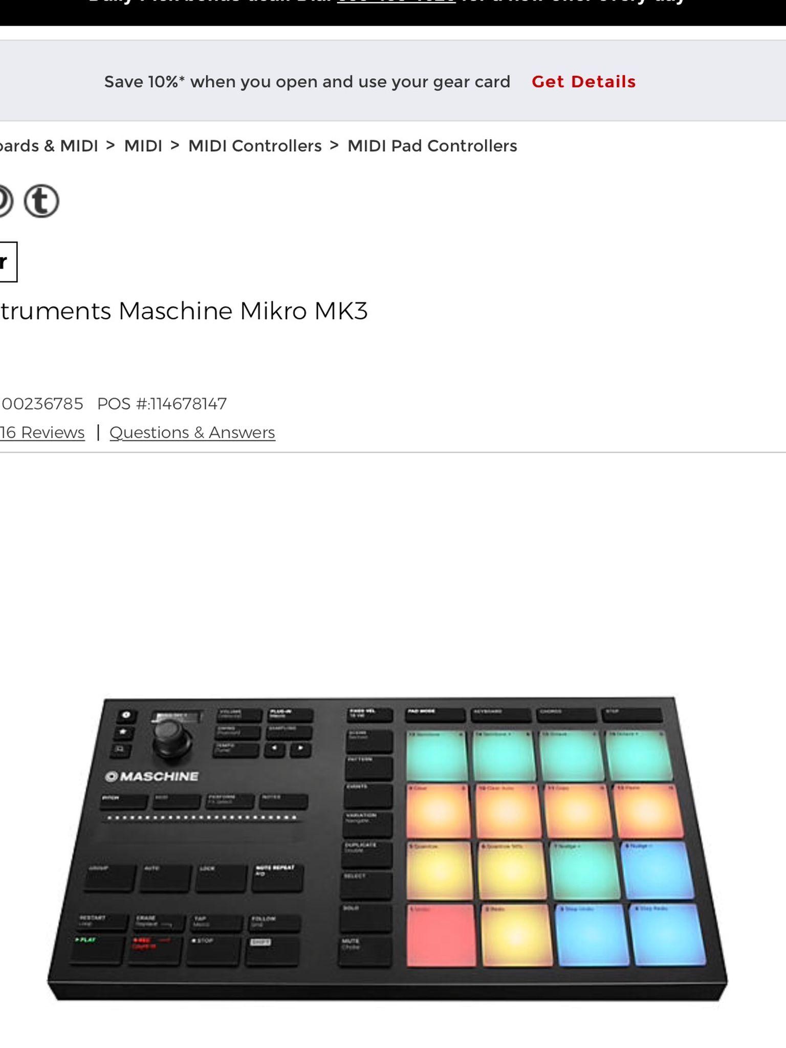 Maschine mikro Mk3 Native Instruments