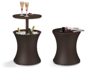 Photo OUTDOOR PATIO TABLE WITH BEER WINE COOLER