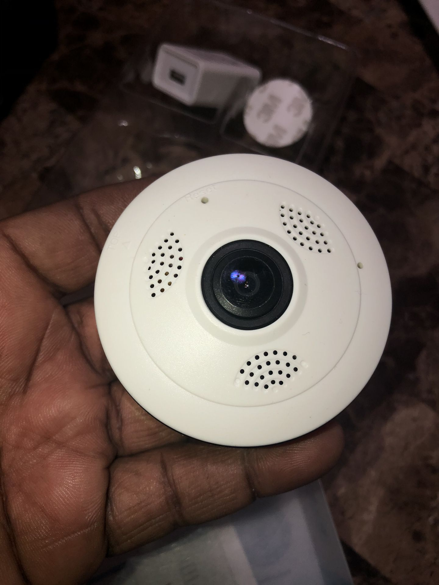 360 pano security camera muti view with sound to listen and push button talk