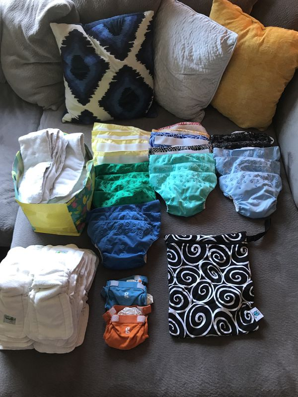 Large Genius Cloth Diaper Lot With Wet Bags And Cd Pail For In Oregon City Or Offerup