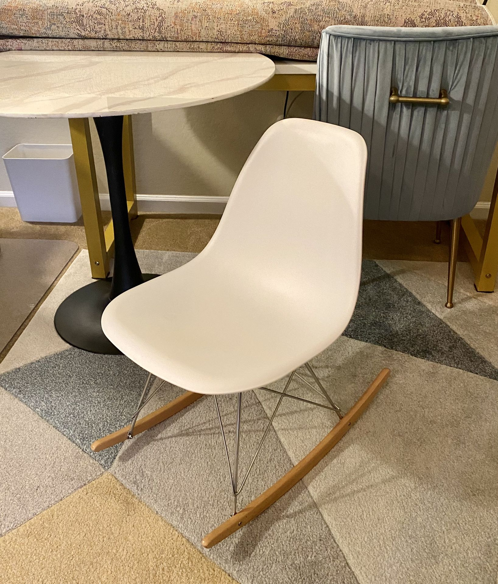 Mid century modern style rocking chair