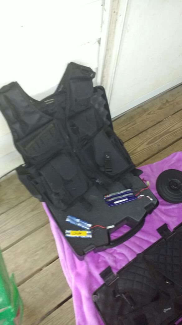 Photo Tactical vest and more. I need you all to text me or PM me something important I need to tell you. I cant put it on this site they wont let me .